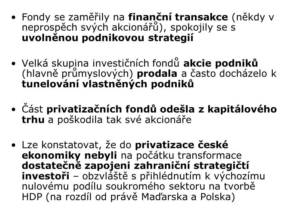 Další dvě části privatizace: i)malá privatizace (menší podniky ve službách) ii)restituce (navrácení původním majitelům či dědicům) Malá privatizace Pomohla znovu vystavět prakticky chybějící živnostenský sektor Převod jednotlivých provozoven maloobchodu a služeb z vlastnictví státu jiným, nestátním vlastníkům Nový majetek šlo získat výhradně za peníze, licitací na veřejných aukcích Probíhala 1991-1993, stát získal asi 32 mld.Kč