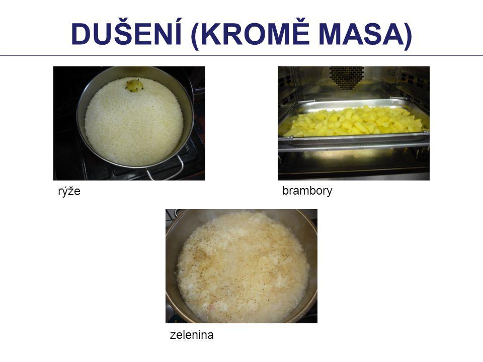 rýže brambory zelenina DUŠENÍ (KROMĚ MASA)