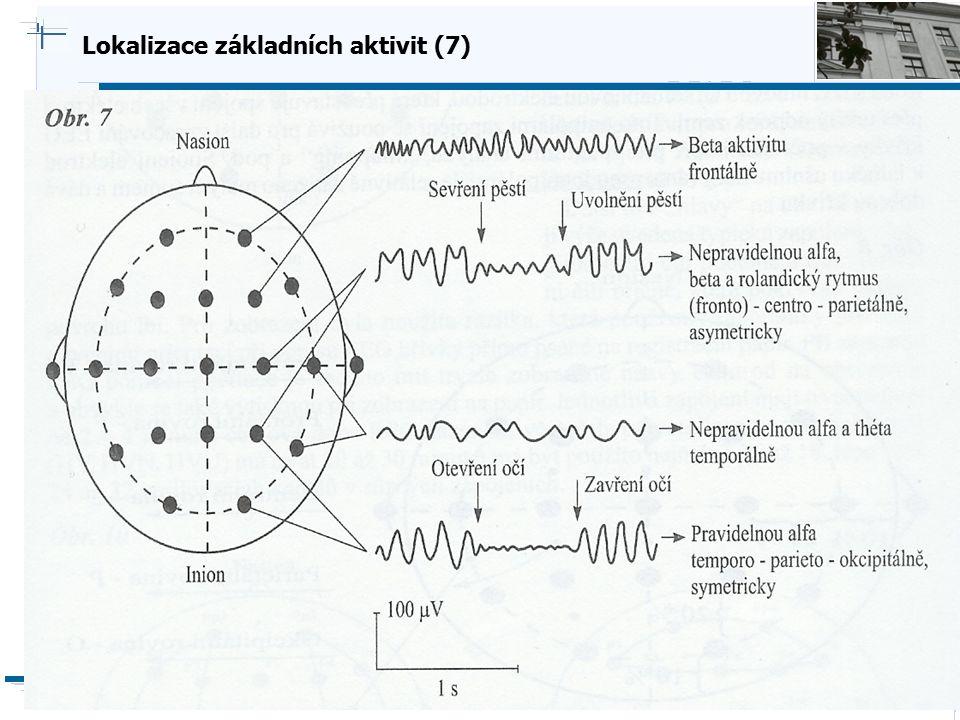 B i o c y b e r n e t i c s G r o u p Lokalizace základních aktivit (7)