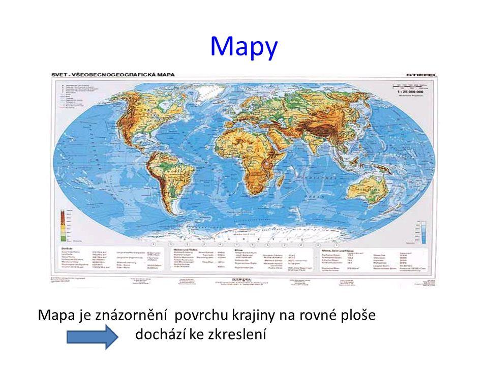 Otázky 1)Co je to mapa.2)Co znamená měřítko mapy.