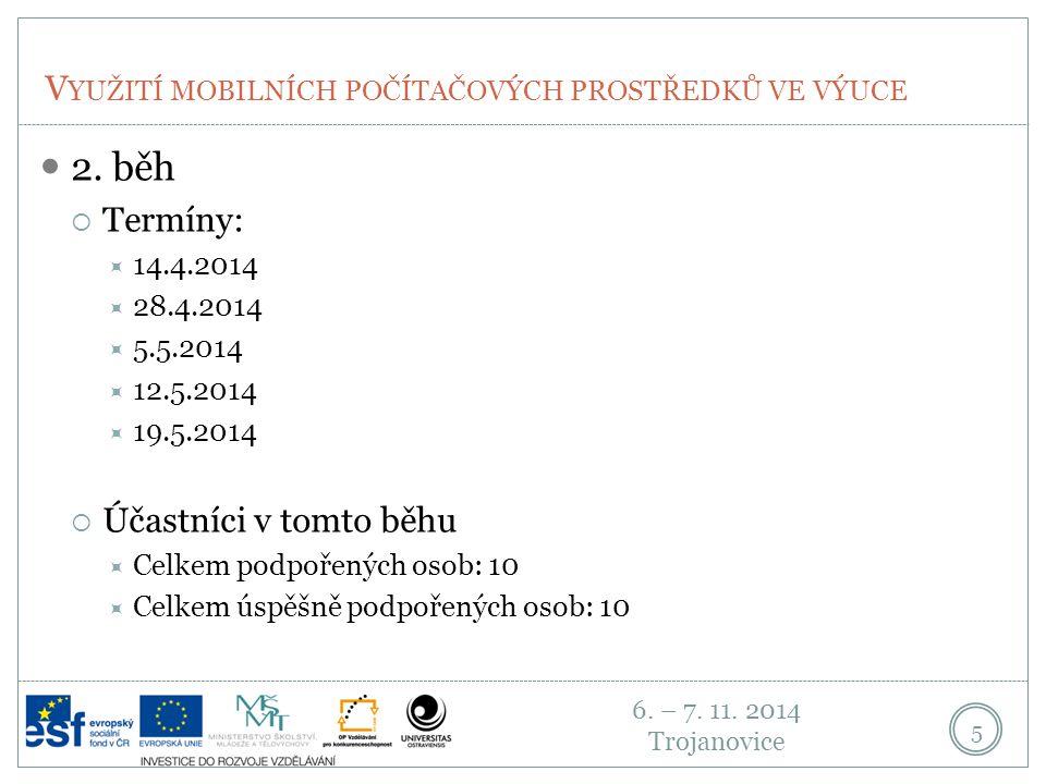 6. – 7. 11. 2014 Trojanovice V YUŽITÍ MOBILNÍCH POČÍTAČOVÝCH PROSTŘEDKŮ VE VÝUCE 5 2.