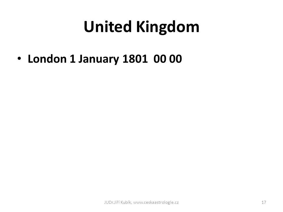 United Kingdom London 1 January 1801 00 00 JUDr.Jiří Kubík, www.ceskaastrologie.cz17
