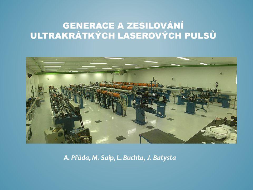 GENERACE A ZESILOVÁNÍ ULTRAKRÁTKÝCH LASEROVÝCH PULSŮ A. Přáda, M. Saip, L. Buchta, J. Batysta