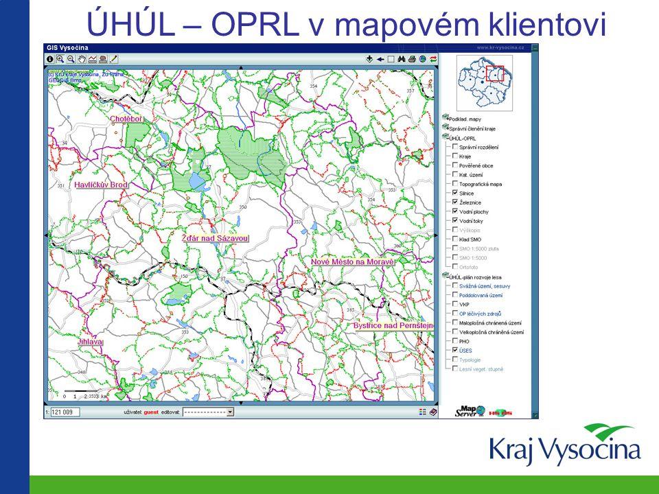 ÚHÚL – OPRL v mapovém klientovi