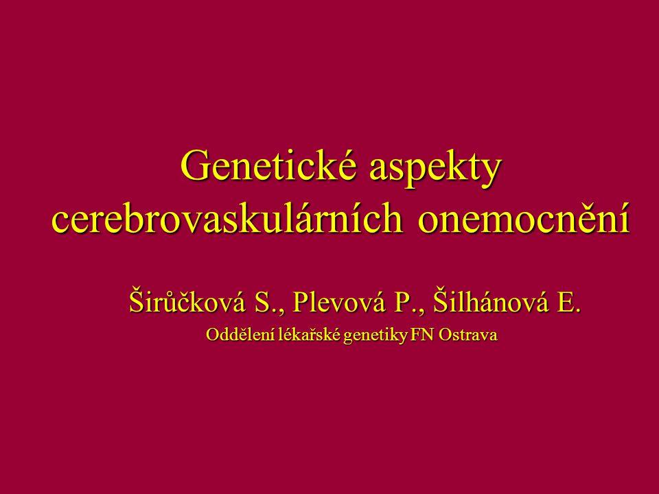 VYSVĚTLIVKY: GEN (mol.gen.dg. v ČR) GEN (mol.gen.