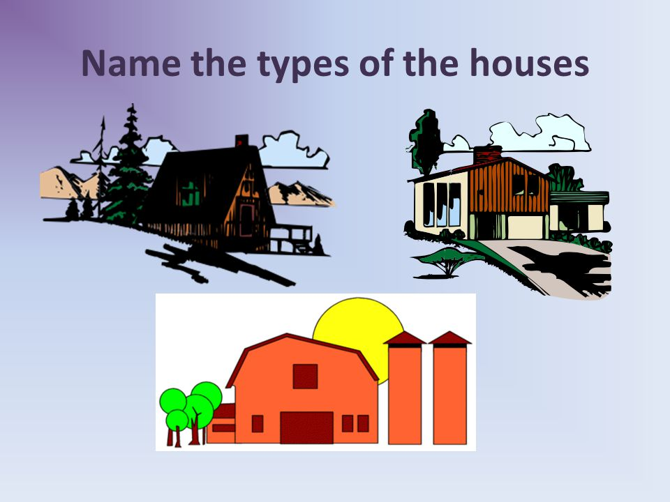 Name the types of the rooms