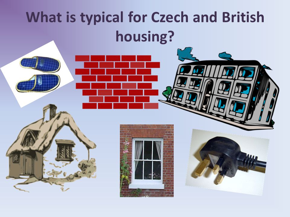 What is typical for Czech and British housing