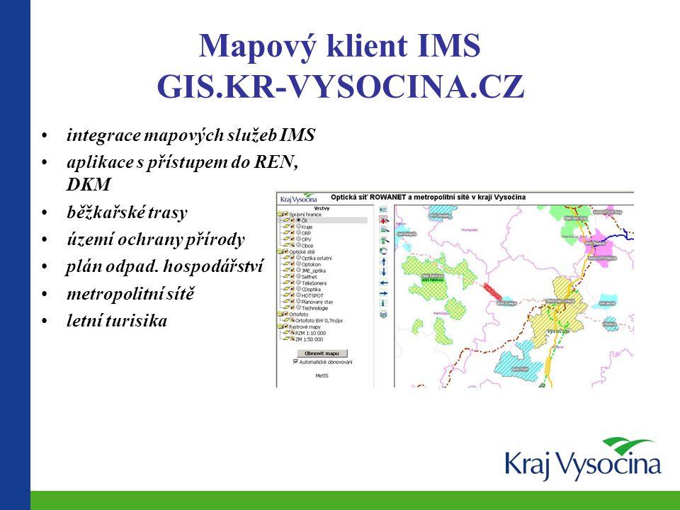 Mapové projekty a kartografie GIS.KR-VYSOCINA.CZ Vysočina 1 : 100 000 Vysočina v mapách II Kulturní dědictví Fond Vysočiny Informační technologie Sociální služby Zdravotnictví Administrativní členění Základní přehledové mapy