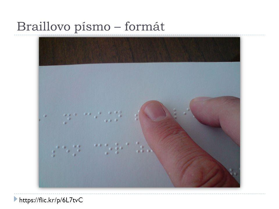 Braillovo písmo – formát https://flic.kr/p/6L7tvC