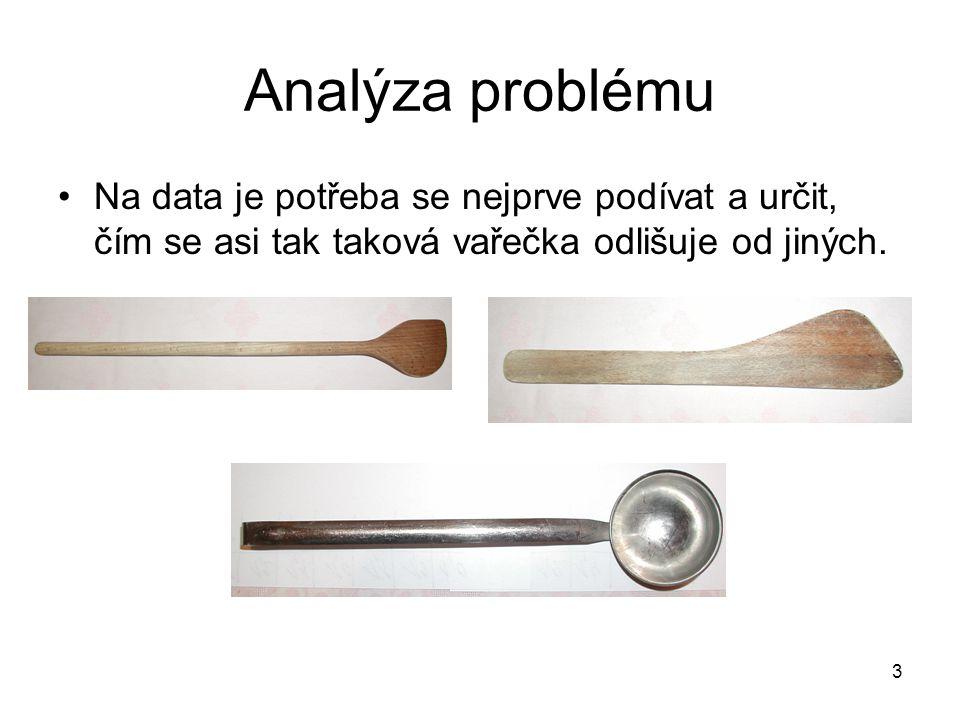 3 Analýza problému Na data je potřeba se nejprve podívat a určit, čím se asi tak taková vařečka odlišuje od jiných.