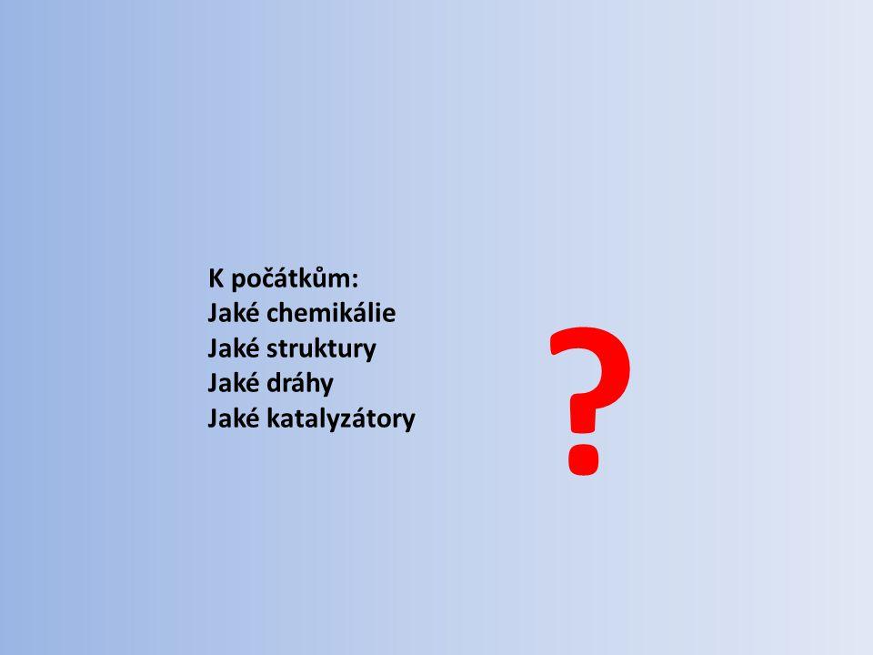 K počátkům: Jaké chemikálie Jaké struktury Jaké dráhy Jaké katalyzátory ?
