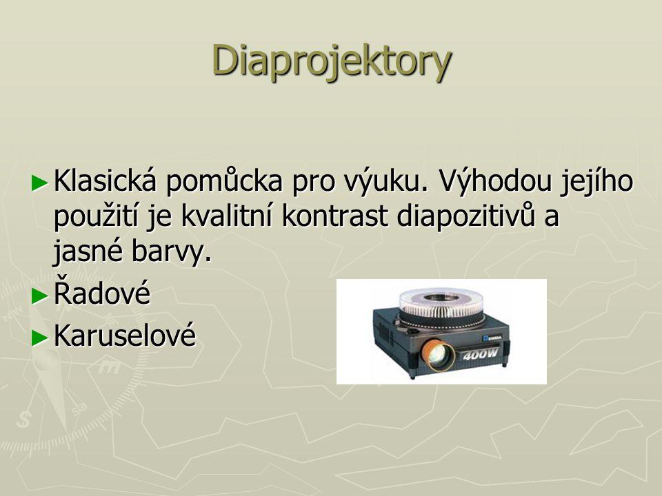 Diaprojektory ► Klasická pomůcka pro výuku.