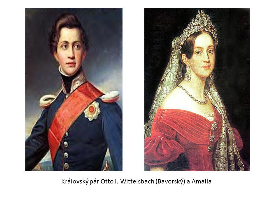 Královský pár Otto I. Wittelsbach (Bavorský) a Amalia