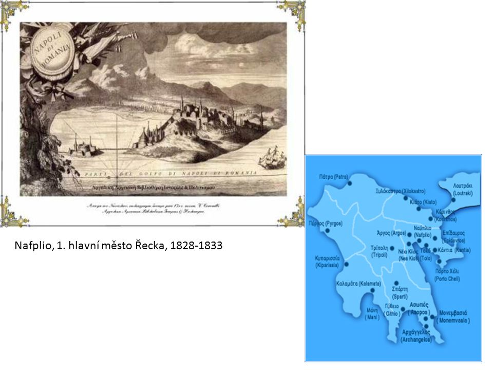 Plk.Kallergis na koni promlouvá k Ottovi a Amálii, 1843 Plk.