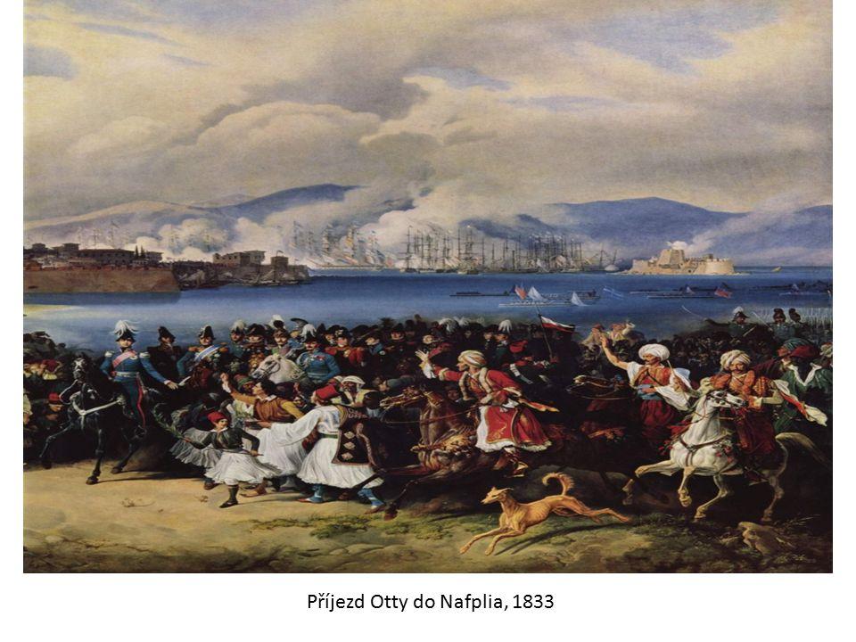 Příjezd Otty do Nafplia, 1833