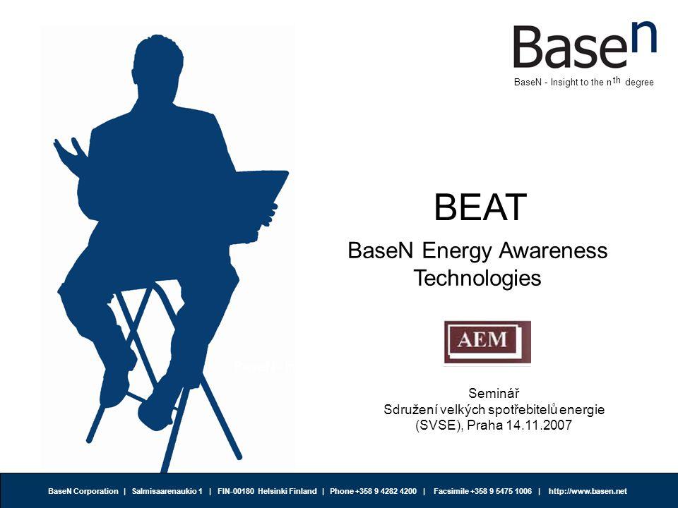 BaseN Corporation | Salmisaarenaukio 1 | FIN-00180 Helsinki Finland | Phone +358 9 4282 4200 | Facsimile +358 9 5475 1006 | http://www.basen.net th BaseN - Insight to the n degree SVSE Statut, Článek 2.