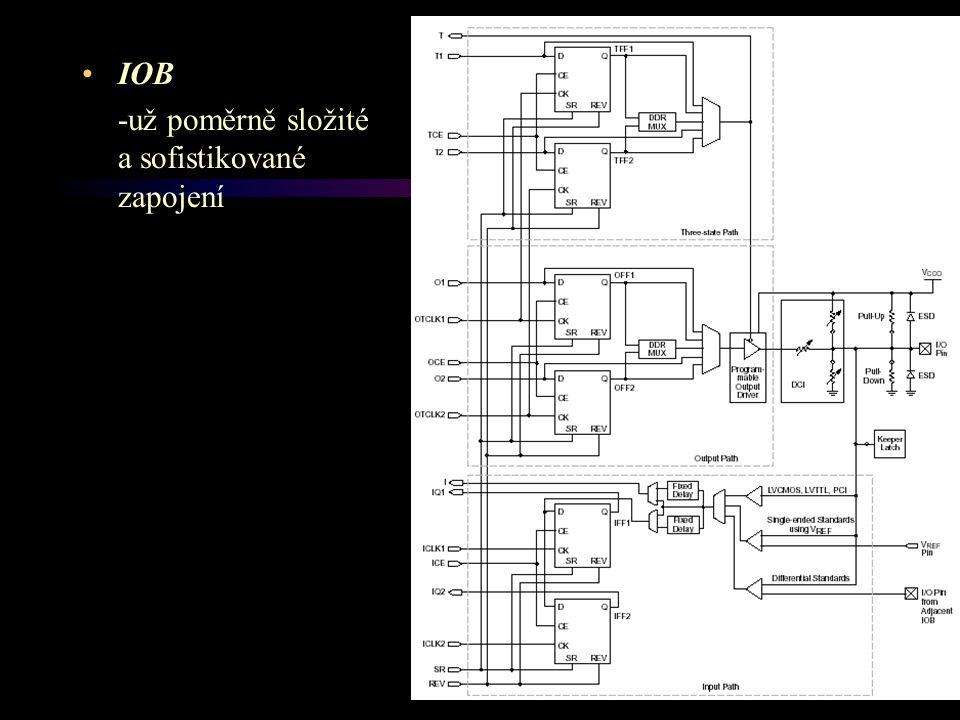 IOB -už poměrně složité a sofistikované zapojení