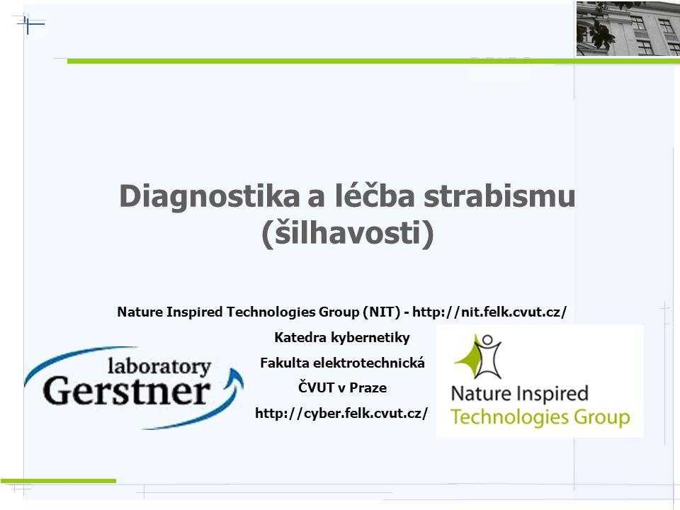 Diagnostika a léčba strabismu (šilhavosti) Nature Inspired Technologies Group (NIT) - http://nit.felk.cvut.cz/ Katedra kybernetiky Fakulta elektrotechnická ČVUT v Praze http://cyber.felk.cvut.cz/