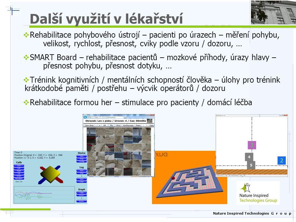 Další projekty / aktivity Nature Inspired Technologies Group (NIT) - http://nit.felk.cvut.cz/ Katedra kybernetiky Fakulta elektrotechnická ČVUT v Praze http://cyber.felk.cvut.cz/