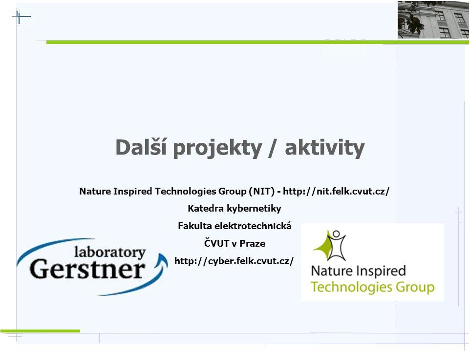 Nature Inspired Technologies G r o u p Inteligentní domácnost  Studentské práce – zejména BP / DP / projekty v týmu / sem.