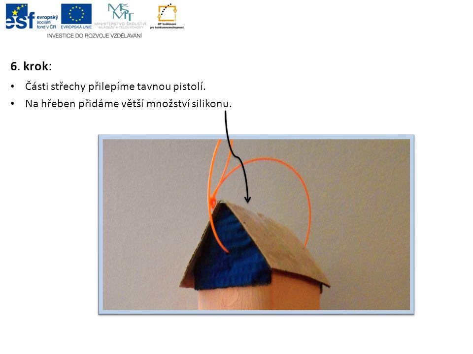 6.krok: Na dvou protilehlých stranách krabice, 3 cm od spodního okraje, propíchneme otvory.