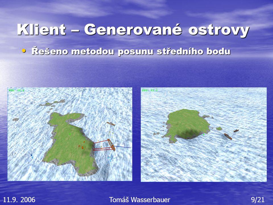 Klient – Generované ostrovy Řešeno metodou posunu středního bodu Řešeno metodou posunu středního bodu 11.9.
