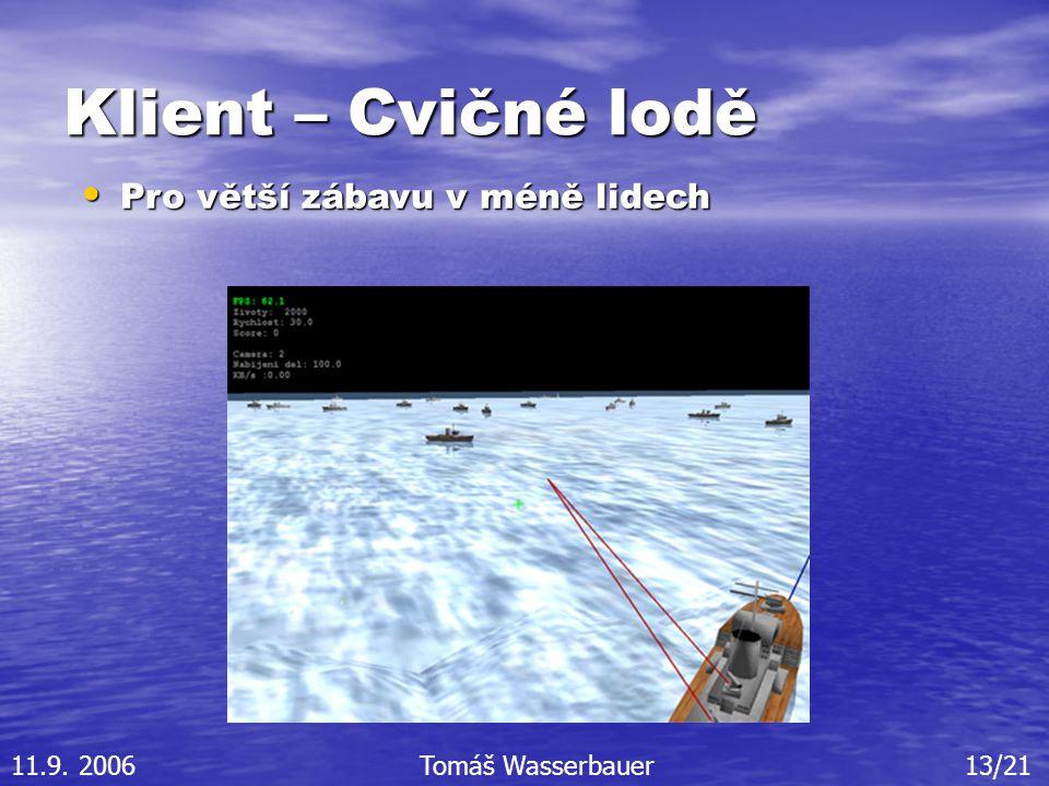 Klient – Cvičné lodě Pro větší zábavu v méně lidech Pro větší zábavu v méně lidech 11.9.