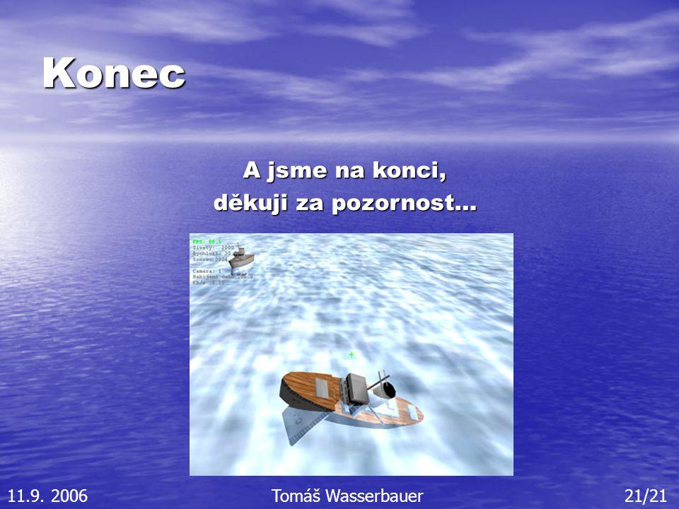 Konec A jsme na konci, děkuji za pozornost… 11.9. 2006Tomáš Wasserbauer21/21
