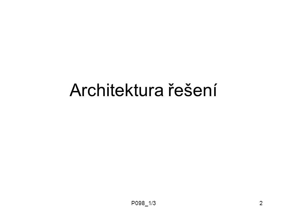 P098_1/32 Architektura řešení