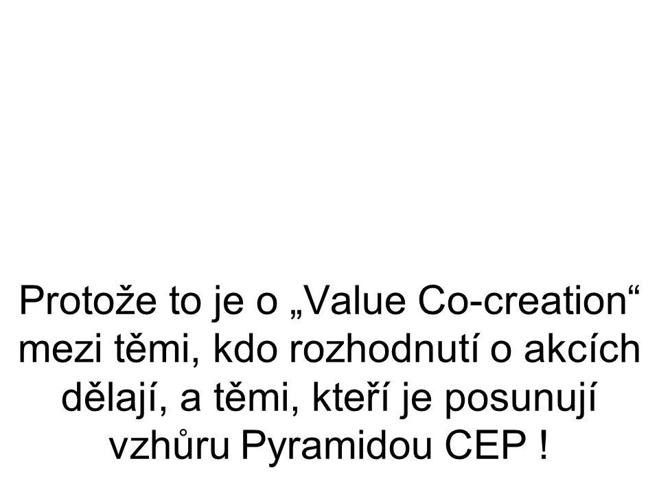 """Protože to je o """"Value Co-creation mezi těmi, kdo rozhodnutí o akcích dělají, a těmi, kteří je posunují vzhůru Pyramidou CEP !"""