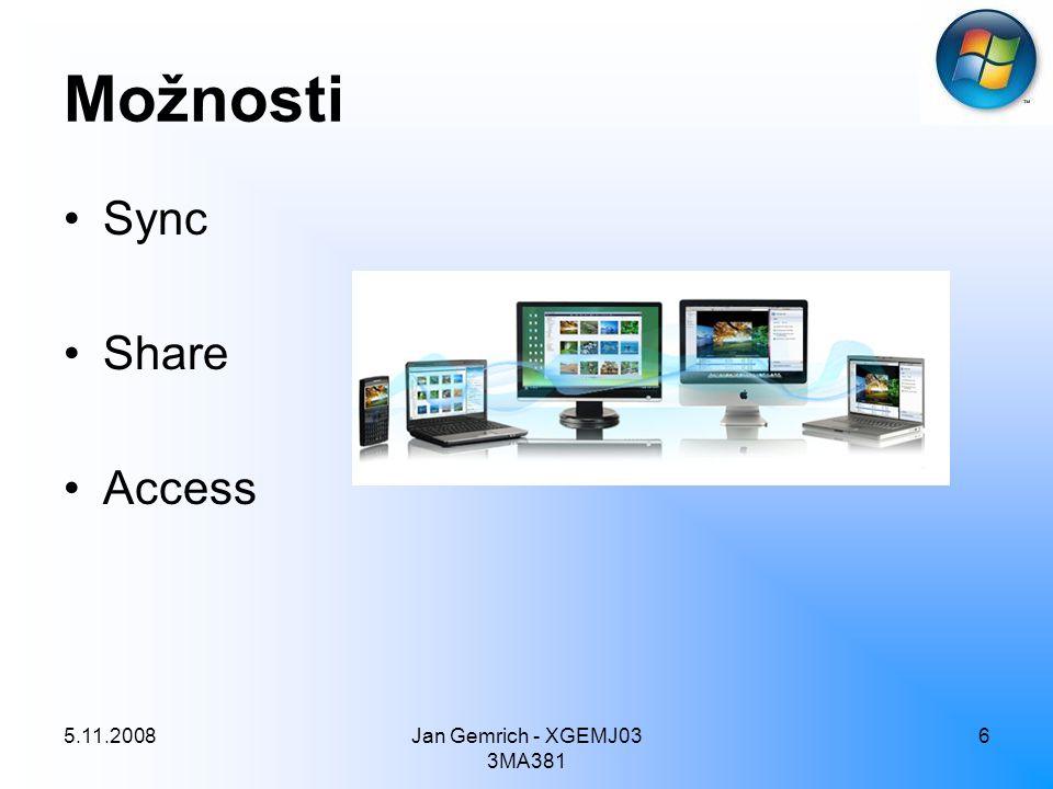 5.11.2008Jan Gemrich - XGEMJ03 3MA381 6 Možnosti Sync Share Access