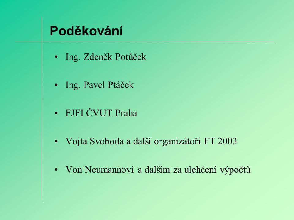 Poděkování Ing. Zdeněk Potůček Ing.