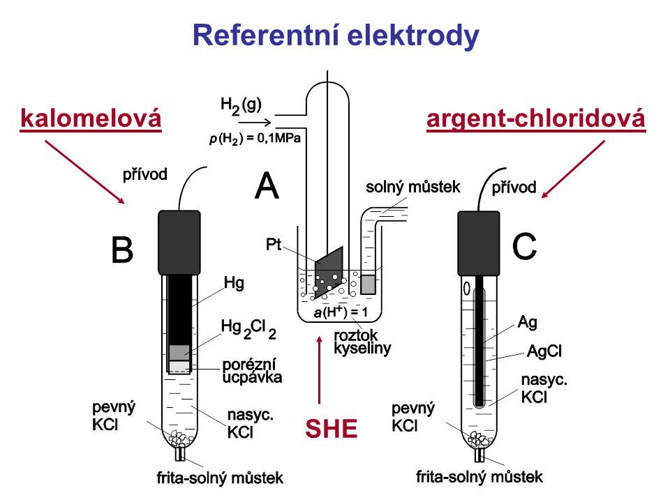 Referentní elektrody kalomelováargent-chloridová SHE