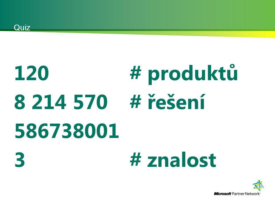Quiz 120 8 214 570 586738001 3 # produktů # řešení # znalost