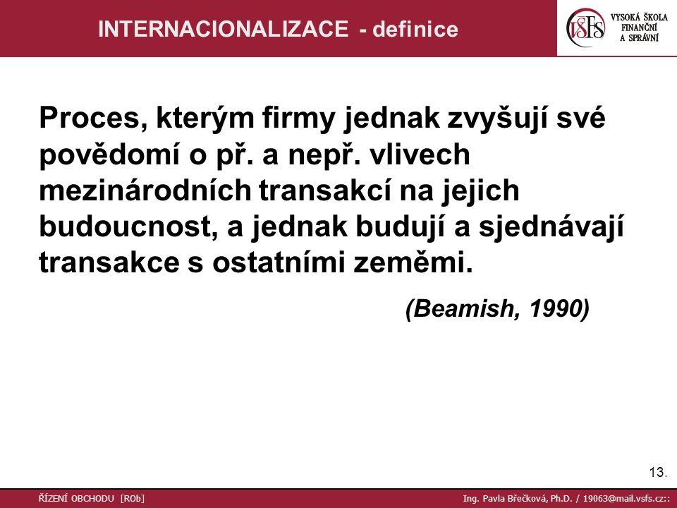 13. ŘÍZENÍ OBCHODU [ROb] Ing. Pavla Břečková, Ph.D.