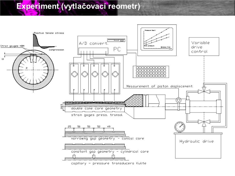 Experiment (vytlačovací reometr)