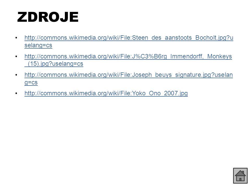ZDROJE http://commons.wikimedia.org/wiki/File:Steen_des_aanstoots_Bocholt.jpg?u selang=cshttp://commons.wikimedia.org/wiki/File:Steen_des_aanstoots_Bo