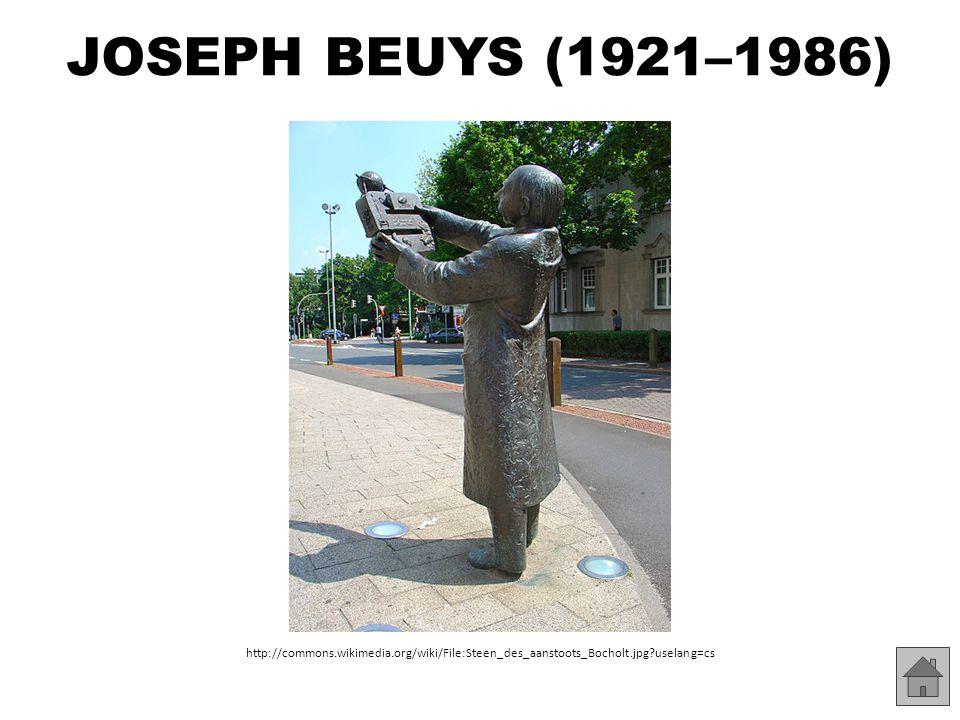JOSEPH BEUYS (1921–1986) http://commons.wikimedia.org/wiki/File:J%C3%B6rg_Immendorff,_Monkeys_(15).jpg?uselang=cs