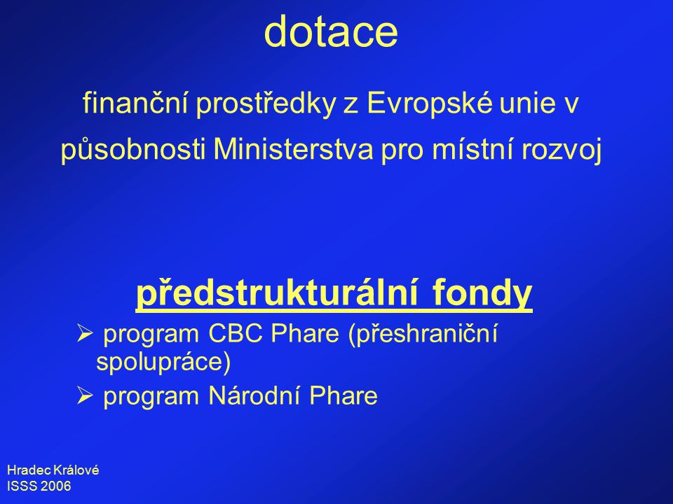 Hradec Králové ISSS 2006