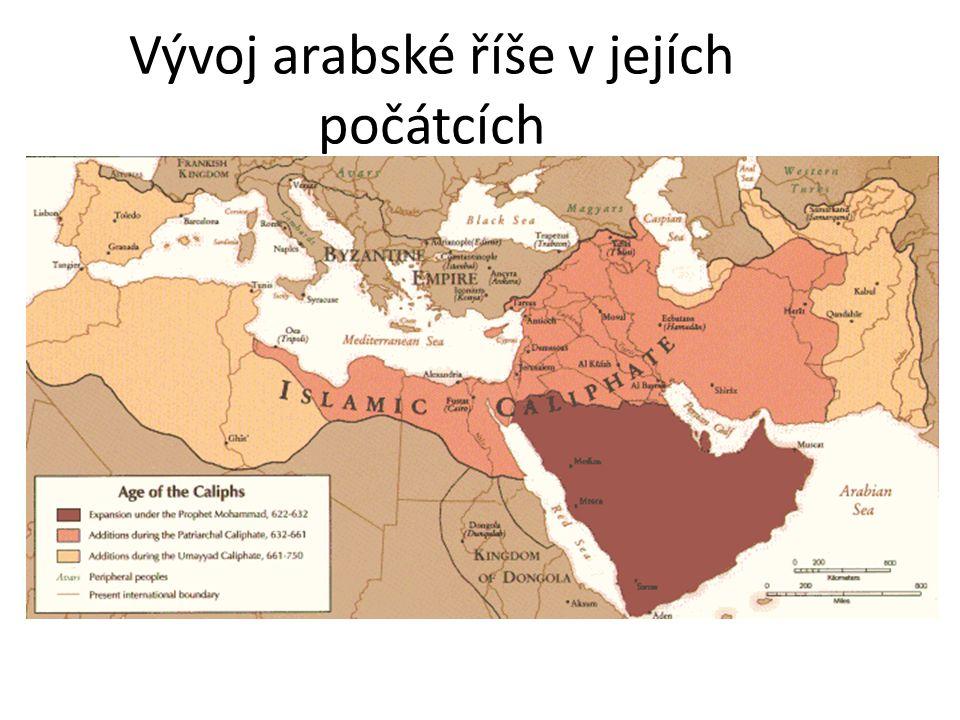 Vývoj arabské říše v jejích počátcích