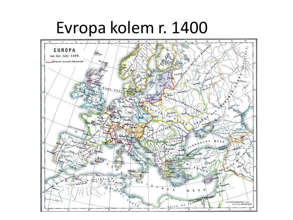 Evropa kolem r. 1400