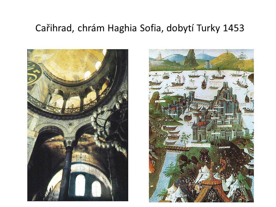 Cařihrad, chrám Haghia Sofia, dobytí Turky 1453