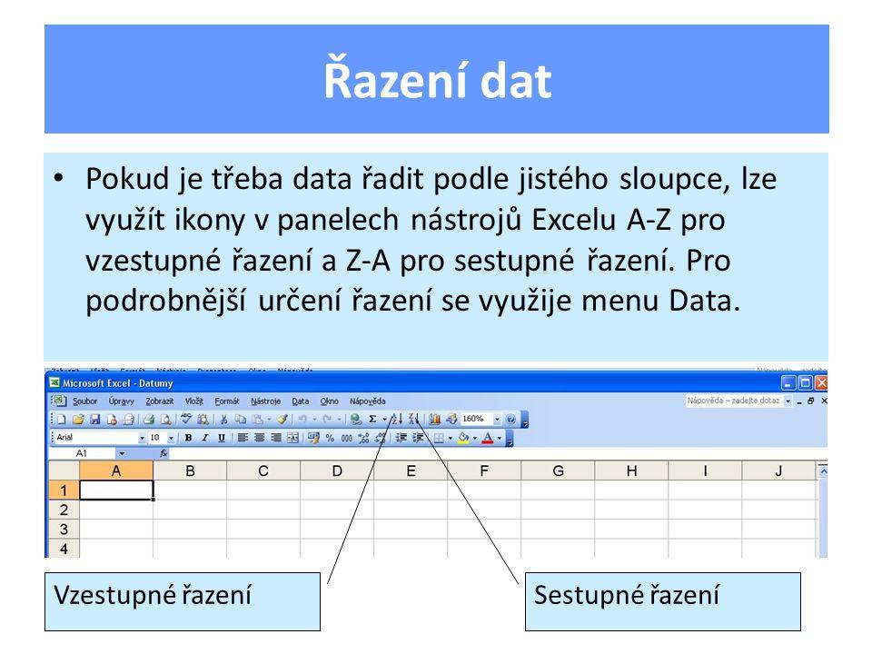 Otevřete sešit Datumy ze své složky a vložte do něj nový list.