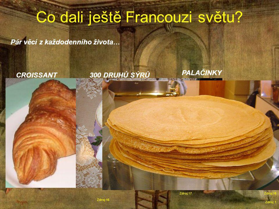Co dali ještě Francouzi světu.