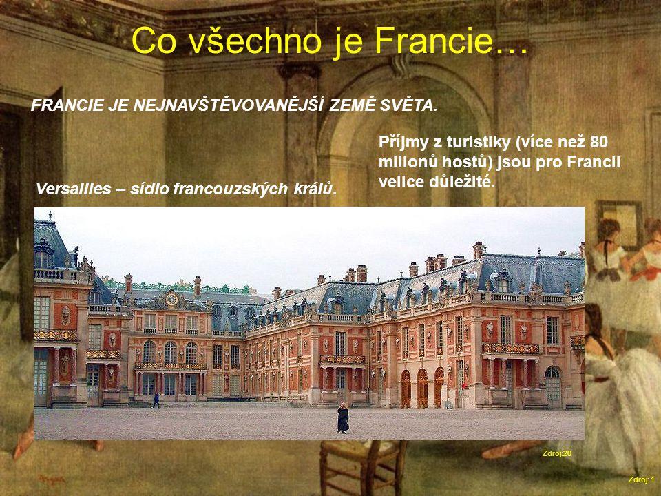 Co všechno je Francie… Zdroj: 1 FRANCIE JE NEJNAVŠTĚVOVANĚJŠÍ ZEMĚ SVĚTA.
