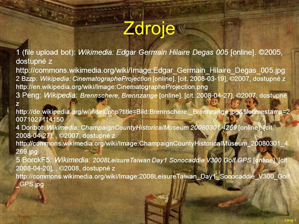 Zdroje Zdroj: 1 1 (file upload bot): Wikimedia: Edgar Germain Hilaire Degas 005 [online].