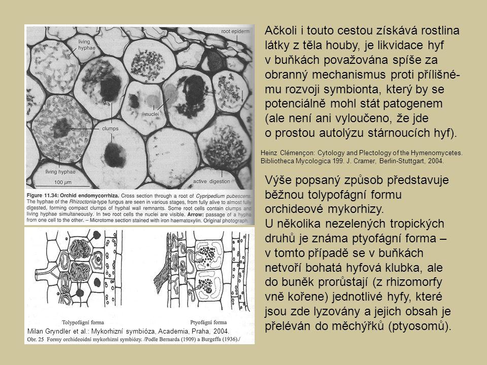 Ačkoli i touto cestou získává rostlina látky z těla houby, je likvidace hyf v buňkách považována spíše za obranný mechanismus proti přílišné- mu rozvo