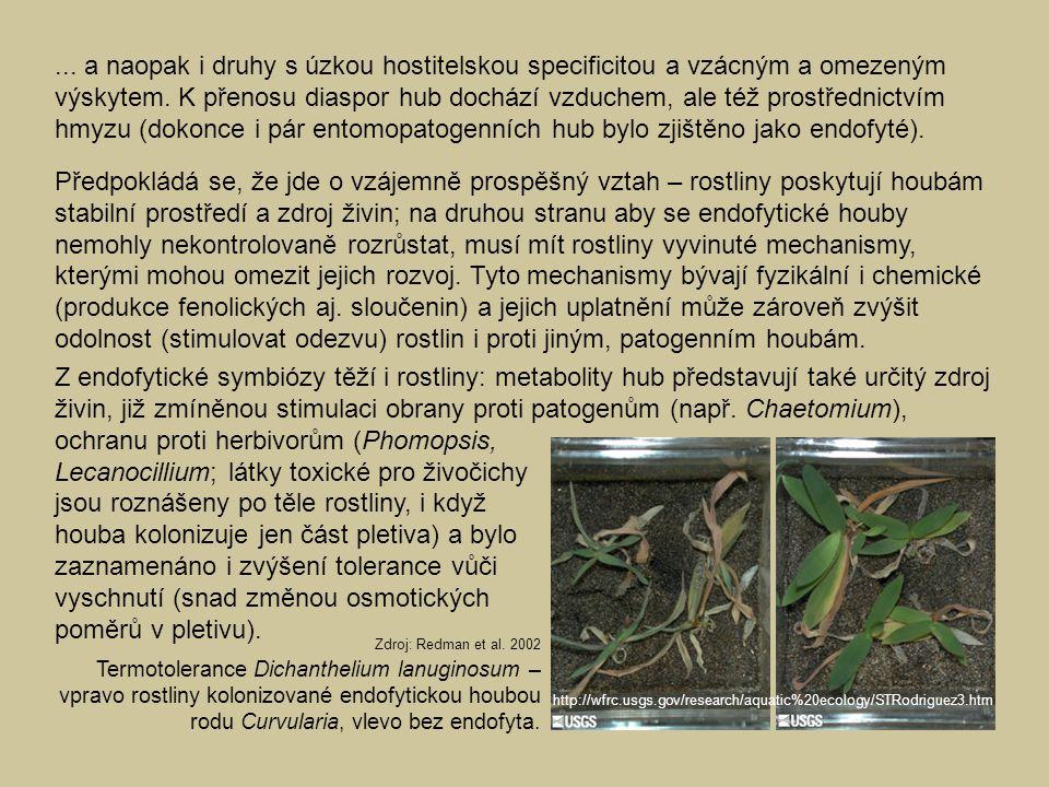 ... a naopak i druhy s úzkou hostitelskou specificitou a vzácným a omezeným výskytem. K přenosu diaspor hub dochází vzduchem, ale též prostřednictvím