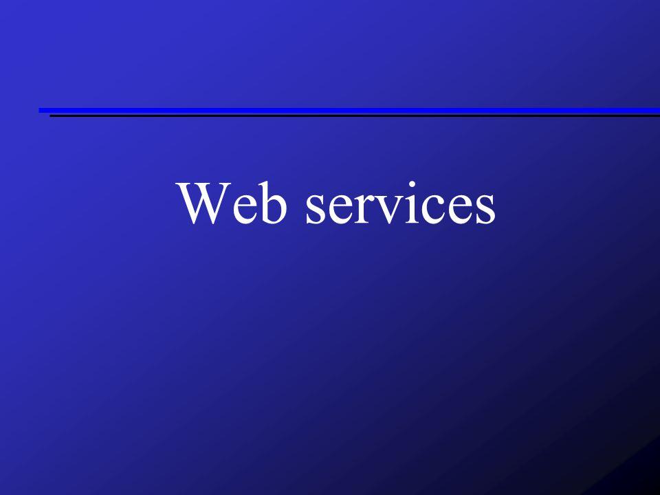 Co jsou webservices Součinná spolupráce počítačů v síti Technologie pro vzdálené volání procedur (RPC) Nezávislá na platformě Data v XML formátu