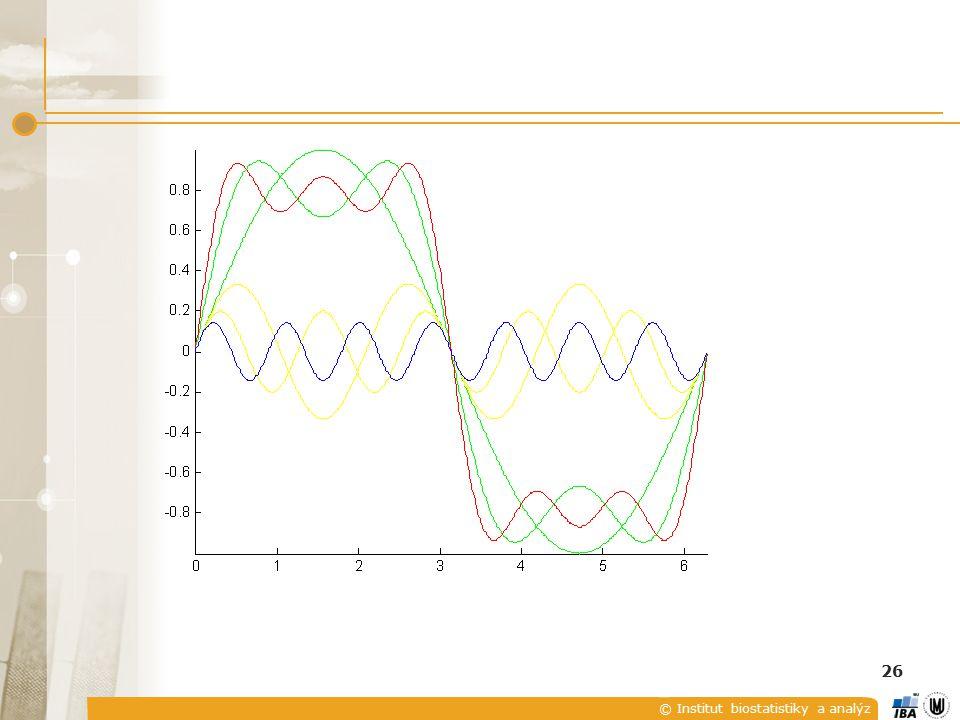© Institut biostatistiky a analýz 26